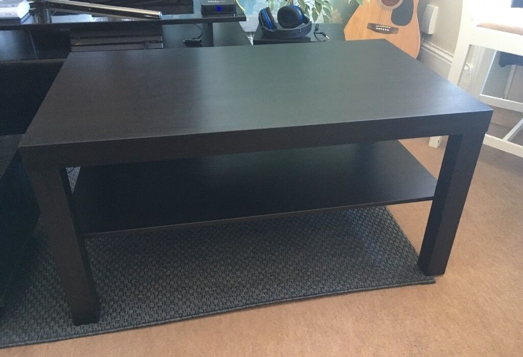 lack sofa table as desk red dark floor ikea black brown coffee new in exeter devon