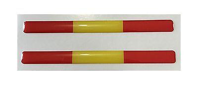 ESPAÑA 3d CÚPULA 2x Gel Pegatinas banderas para Parachoques Casco de MOTO