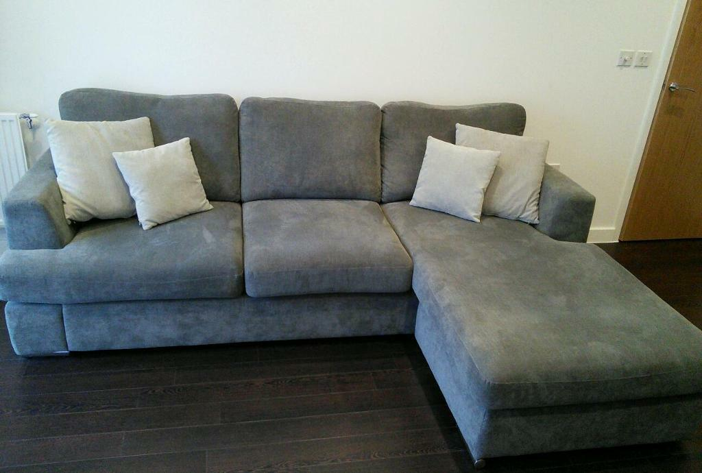 sofa bed cheap london seahorse folding singapore 4 seater - dfs freya in graphite | wandsworth ...