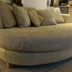 Oval Sofa E Colchoes Porangaba Telefone Gorgeous Round Couch Dfs Snuggle Cuddle Love Chair