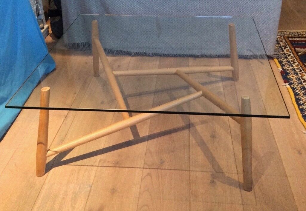 unusual chair legs wheelchair vehicle glass coffee table with shaped timber in clapham london gumtree