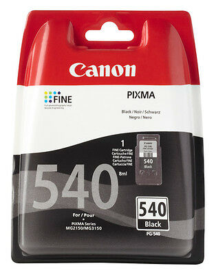 1x ORIGINAL CANON PG-540  DRUCKER PATRONE MX395 MX435 MX470 MX475 MX515 MX535 bk