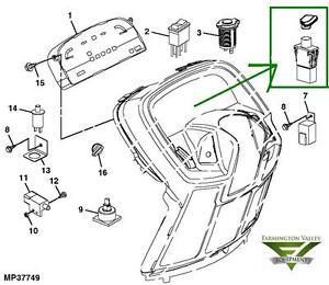 John Deere X465 X475 X485 X495 X575 X585 X595 PTO Switch w