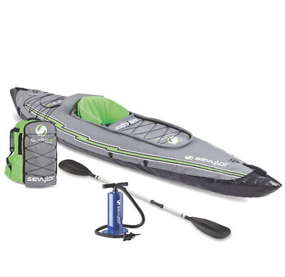 Sevylor K5 QuikPak Inflatable 1 Person Kayak Max Weight Limit 250lbs NEW