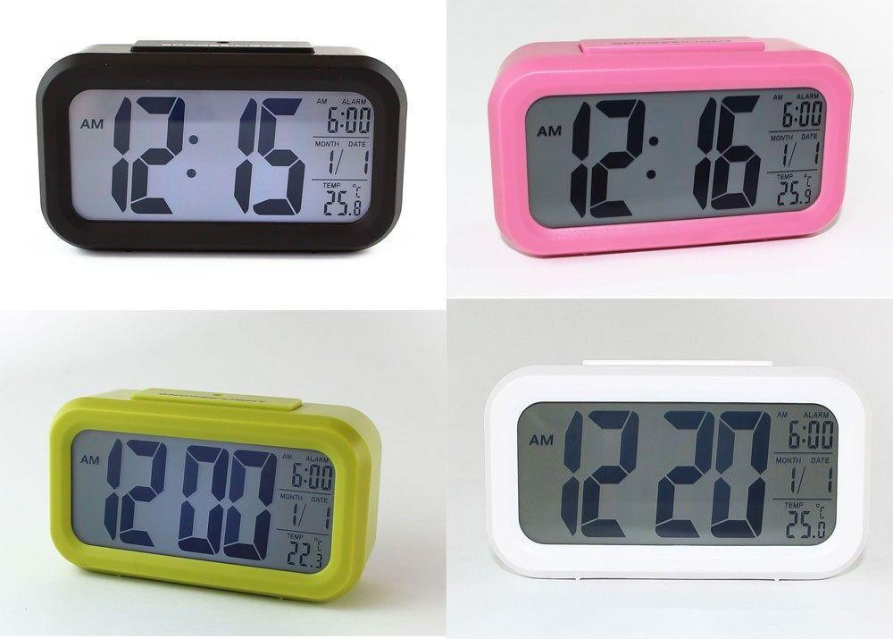Digitaluhr Wecker Digitalwecker Reisewecker mit Nachtsensor Tischuhr (Uhr3019)