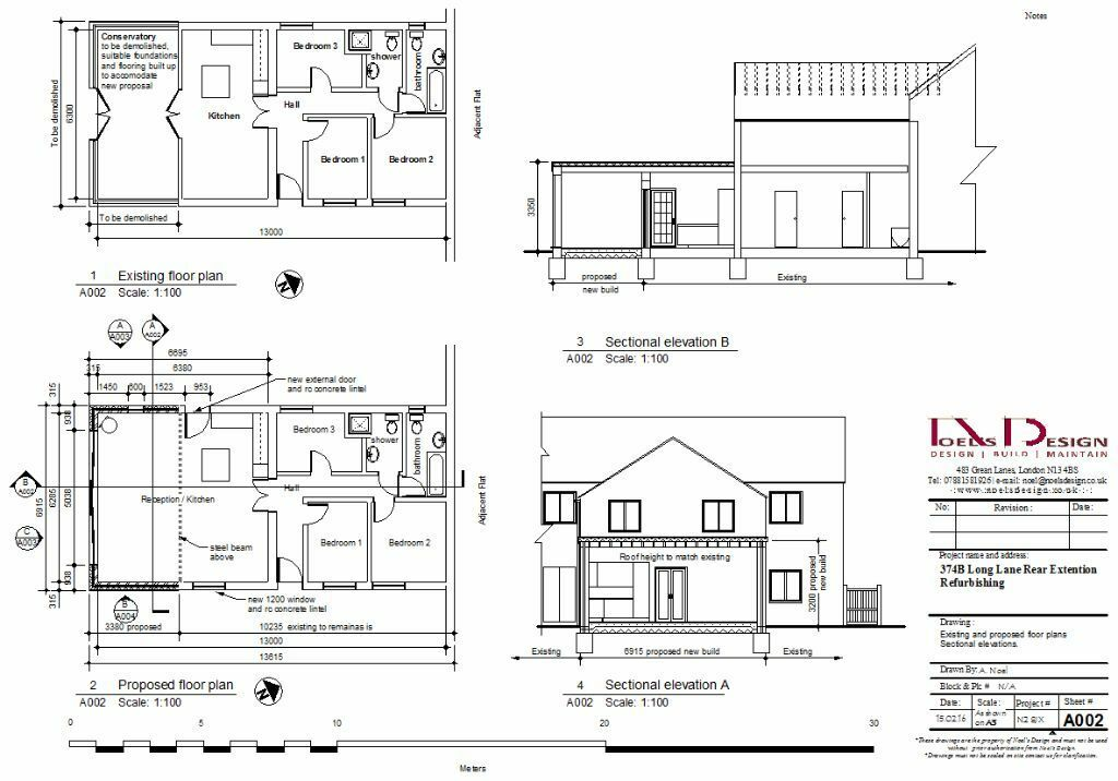 Drawing Plans For A House Extension