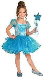 Blue Tutu Princess Costume Magic Wand Cinderella Dress Girls Kids Child S NEW