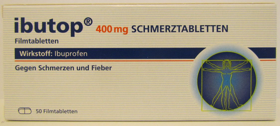 IBUTOP Schmerztabletten 400 mg Ibuprofen 50 Stück PZN: 11886142 MHD:07/2019