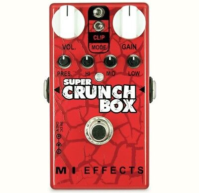 MI AUDIO Super Crunch Box V2 BRAND NEW Guitar Effect Pedal