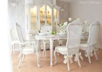 UNIQUE *** French Antique Shabby Chic Dining Table with ...