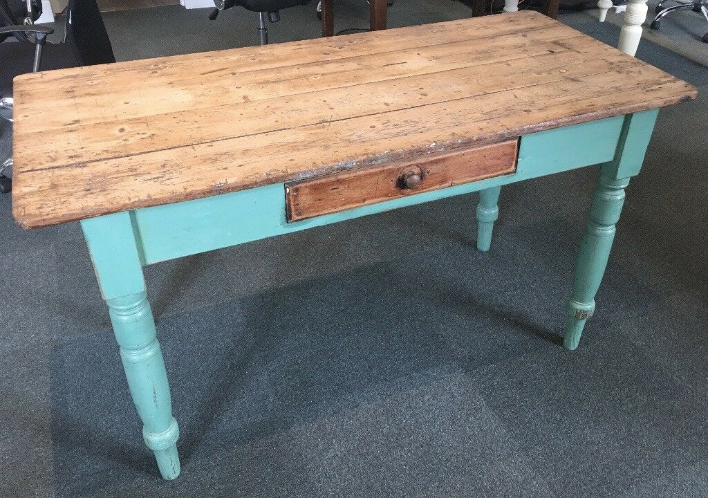 pine kitchen table outdoor design ideas antique with drawer in stroud gloucestershire