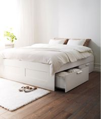 IKEA Brimnes King Size Bed Frame with Underbed Storage ...
