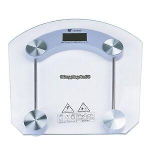 Digital 396 lbs Bathroom Scale Body Personal Weight Glass