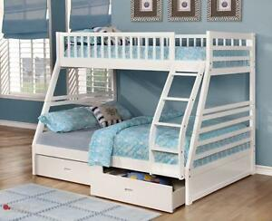 Free Delivery In Winnipeg Twin Over Full Bunk Bed W Storage Drawers Brand