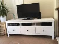 IKEA HEMNES TV Bench/ TV stand/ TV unit WHITE   in ...