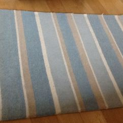 Apple Kitchen Rugs Retro Table And Chairs Laura Ashley Bexley Duck Egg Stripe Wool Rug | In Fair Oak ...