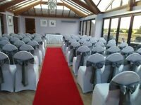 chair cover hire dunfermline beach table and chairs units in fife weddings services gumtree wedding event centerpiece from 1 per with sash