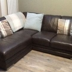 Sofitalia Leather Sofa Love Your Home Jasper Brown Corner Coated Fabric ...