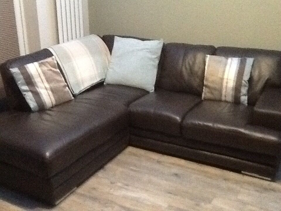 sofa seat height 60cm ikea rp covers uk brown leather corner unit dfs. perfect condition 1 ...