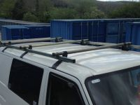 rhino heavy duty roof rack with rear roller to fit vw t4 ...