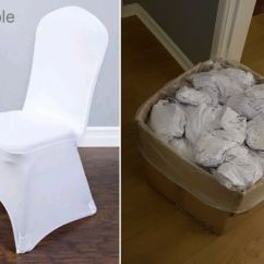 Chair Covers Telford Turquoise Dining Chairs 100 Wedding White Spandex Lycra Arched Front Used