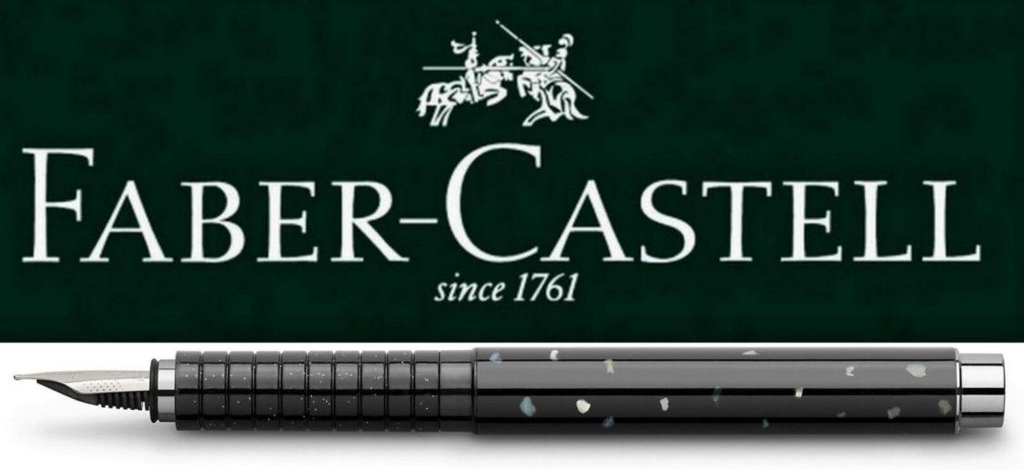 Faber-Castell BASIC Black Perlmutt Füllfederhalter Feder M + B *!bestprice!*