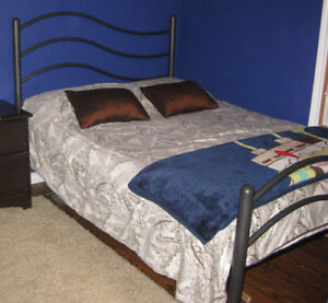 Ontario Double Bed With Headboard Footboard And Mattress