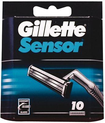 Gillette Sensor Klingen Rasierklingen 10 STÜCK NEU