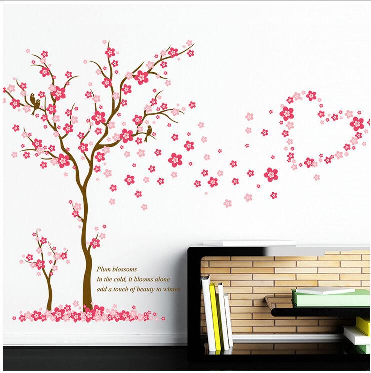 Wandtattoo Kinderzimmer pink rosa Herzen Liebe Baby Mädchen Wandsticker Baum Ast