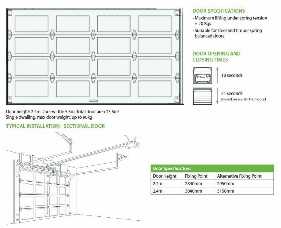 Sectional Garage Door Opener Merlin MT60EVO Powerace