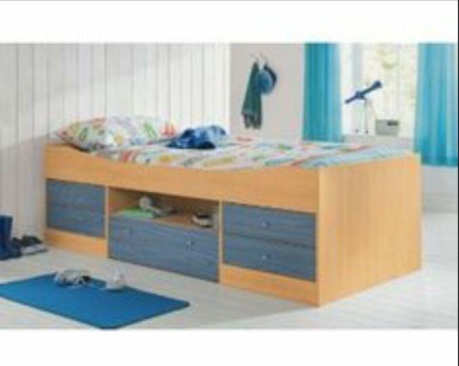 Argos Malibu Cabin Bed In Blue Pine With Single Mattress