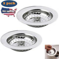 Kitchen Drain Small Lighting Ideas Sink Stopper Ebay 2pc Strainer Filter Stainless Steel Waste Basket Hold
