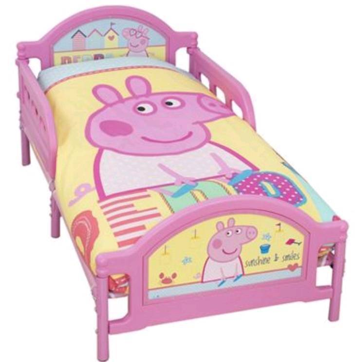 Peppa pig toddler bed with mattress  in Pudsey West