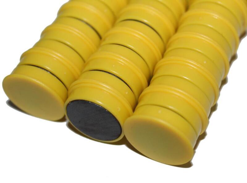 50 x Magnete, Gelb ɸ 24mm, Haftmagnete für Whiteboard, Kühlschrankmagnet