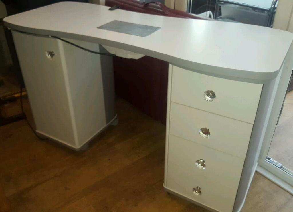 cheap pedicure chairs tables and for toddlers nail desk with extractor fan. bar. station. manicure. | in lincoln, lincolnshire gumtree