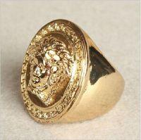 Men's 18K Gold Plated Large Medusa Head Ring US Size 8~11 ...