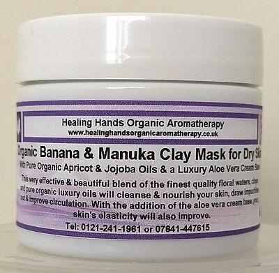 LUXUS organisch Bananen & Manuka 12 + Honig Creme Ton Gesichts Maske