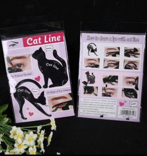 ***Cat Line Schablonen Eyeliner Schablonen Black Cat Catline Smoky Eye Neu Top**