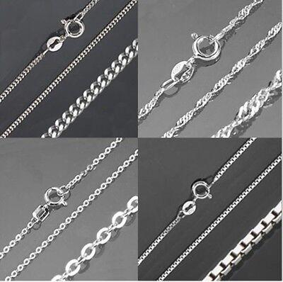 Kette Echt 925 Silber Damen Herren Kinder Schmuck Silberkette Halskette Panzer -