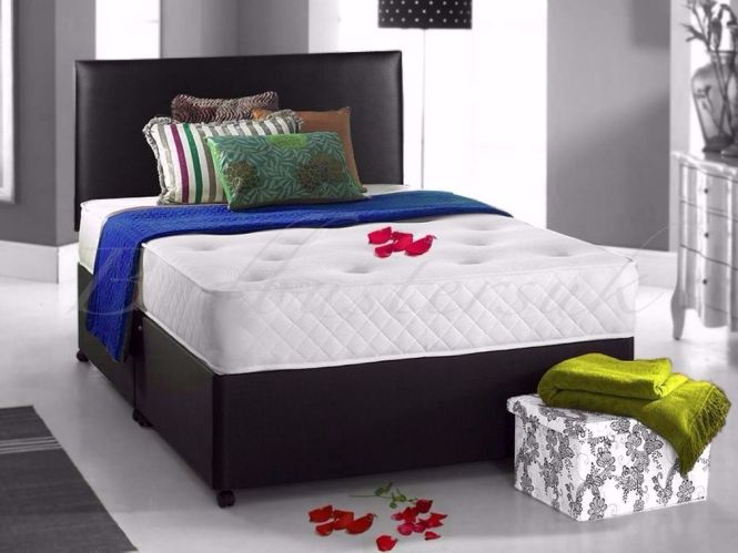 Brand New Double Small Divan Bed W Memory Foam Mattress Same Day Cash On Delivery