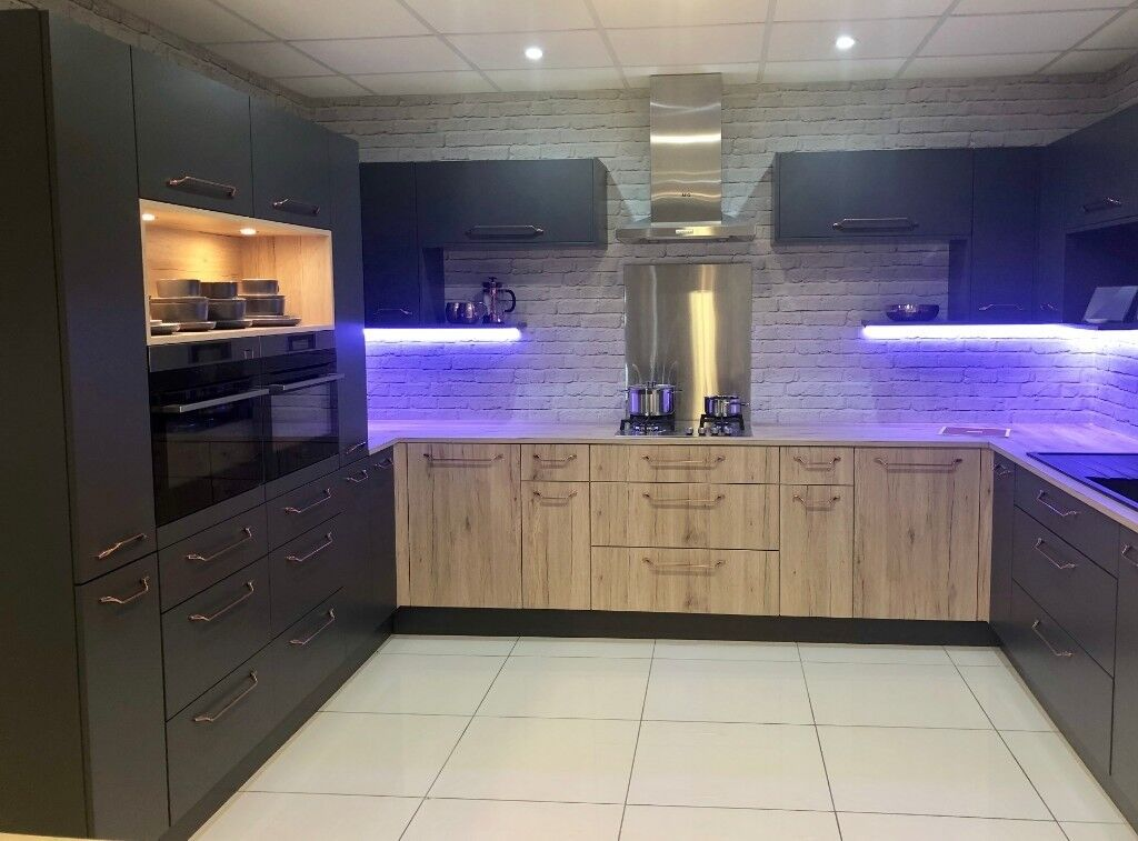 kitchen matt embroidered towels ex display anthracite and rustic oak in exeter devon