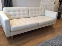 White Leather Sofa Ikea Captivating White Leather Couch ...