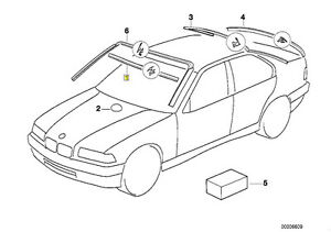 BMW-E36-3-Series-Trim-Seal-for-Front-Windshield-Lower