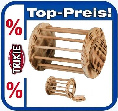 TRIXIE 61192 Nager Heuraufe Rolle Ø 15 × 19 cm Holz