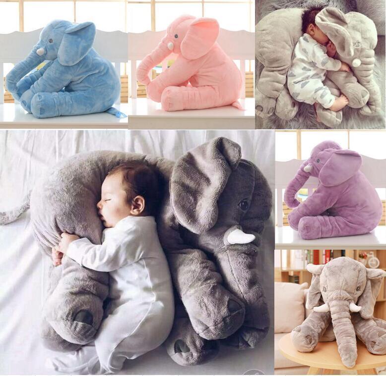 Kinder Baby Groß Elefant Puppe Kissen Plüsch Stofftier Kuscheltier Spielzeug Toy