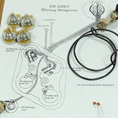 Gibson Guitar Wiring Diagrams Ford Trailer Diagram New Es 335 Pots Switch Kit For Complete With Details About