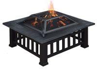 Large Outdoor Garden Fire Pit Log Burner Square Table ...