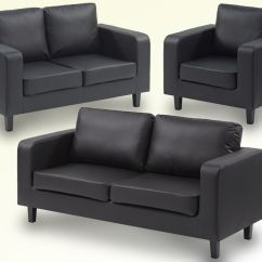 3 2 Leather Sofa Set Corner Deals Uk Great Value Box 1 Only For 275 Black In
