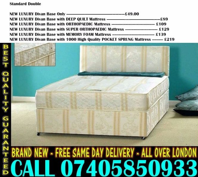 Brand New Double Single King Size Dlvan Bed With Mattress Sarasota