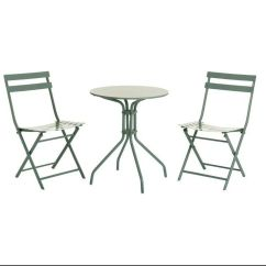 Green Metal Bistro Chairs Doll Bouncy Chair New Sage Garden Table In Crook County